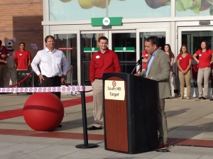 Spokane Mayor David Condon gives some remarks at the ribbon cutting.