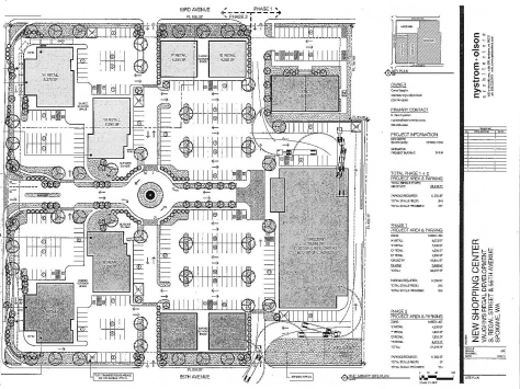 The revised site plan produced by project architect Nystrom Olson.