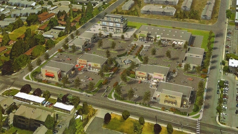 Another view of the proposed development looking NE.