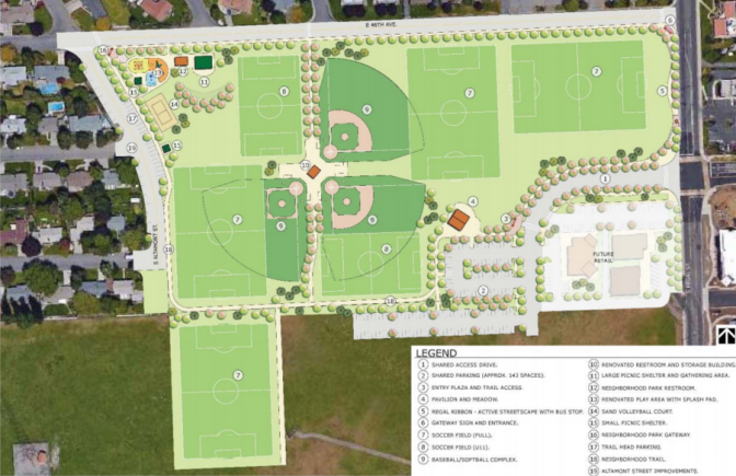 City Shares Draft Master Plan for Southeast Sports Complex